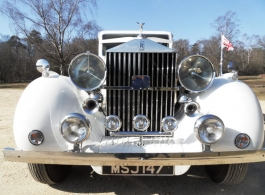 Vintage 1930s Rolls Royce wedding car in Bournemouth